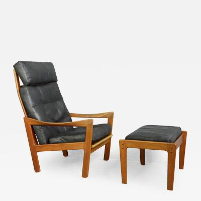 Illum Wikkels Lounge Chair Ottoman By Illum Wikkels Circa 1960s