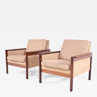 Illum Wikkels Midcentury Pair of Illum Wikkelso Capella Chairs for Niels Eilersen
