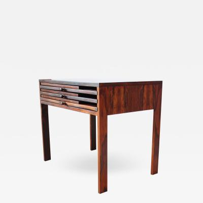 Illum Wikkels Nest of Three Rosewood Folding Tables by Illum Wikkels