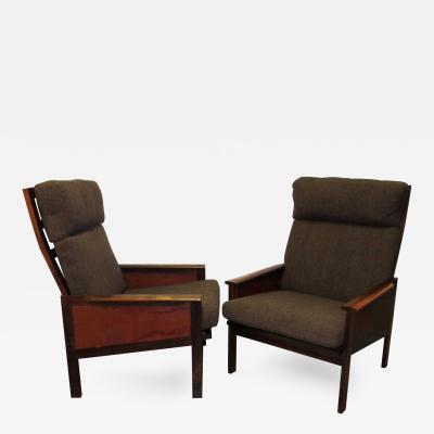 Illum Wikkels Pair of High Back Capella Lounge Chairs by Illum Wikkels