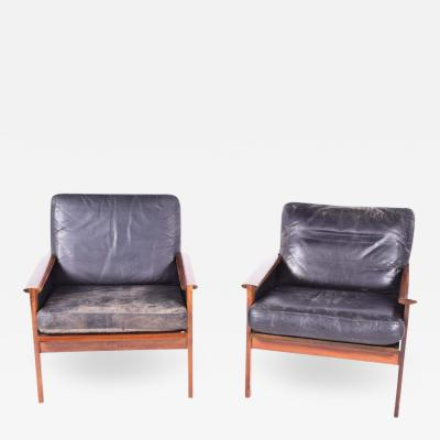 Illum Wikkels Rosewood Capella Series Armchairs by Illum Wikkels for Niels Eilersen