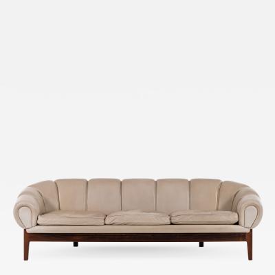 Illum Wikkels Sofa Model Croissant Produced by Holger Christiansen