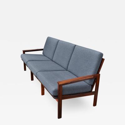 Illum Wikkelso Rosewood Frame Capella Sofa by Illum Wikkelso w Killer Grain