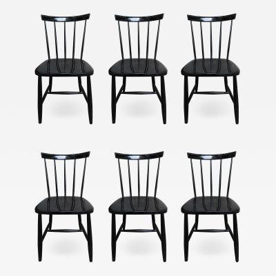 Ilmari Tapiovaara 6 Chairs by Ilmari Tapiovaara Haga Fors production Sweden 1950