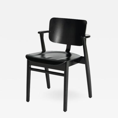 Ilmari Tapiovaara Ilmari Tapiovaara Domus Chair in Black Birch and Leather for Artek