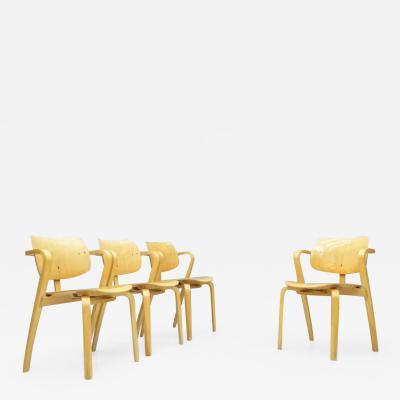 Ilmari Tapiovaara Rare Set Of Four Ilmari Tapiovaara Aslak Dining Room Chairs Asko Finland 1960s