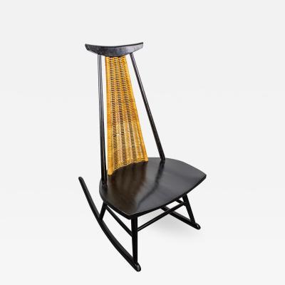 Ilmari Tapiovaara Rocking Chair Dr No by Ilmari Tapiovaara for Asko Finland 1960s