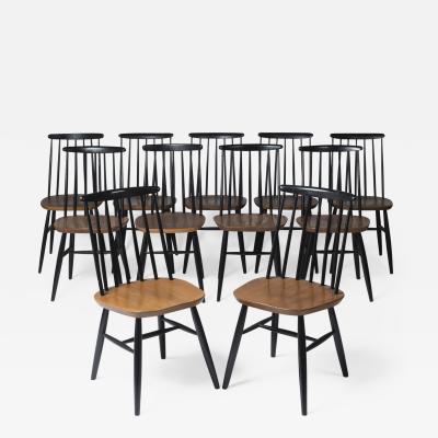 Ilmari Tapiovaara Set of eleven chairs by Ilmari Tapiovaara Finland circa 1960
