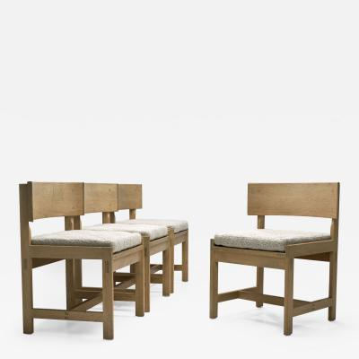 Ilse Rix Set of Four Oak Chairs by Ilse Rix for Uldum M belfabrik Denmark 1961