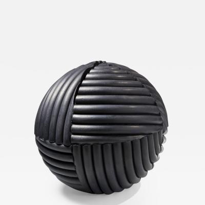 Imai Hy e Black spherical sculpture
