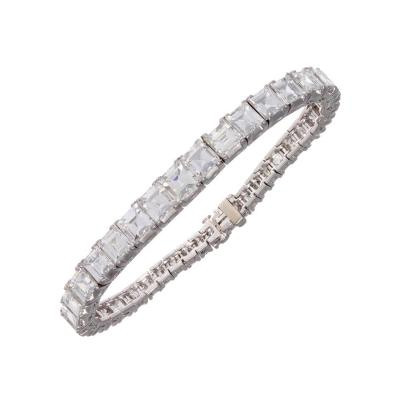 Important Art Deco Step Cut Diamond Platinum Bracelet
