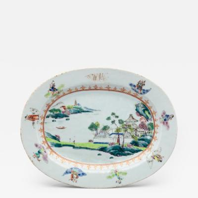 Important Chinese Export Platter from the Governor Dewitt Clinton Service