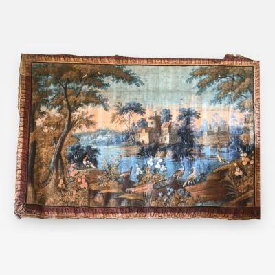 Important French 18th Century Toile Peinte Tapestry