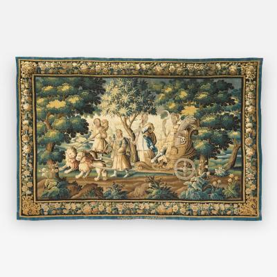 Important French Abusson Allegorical Tapestry of Summer Four Seasons Signed