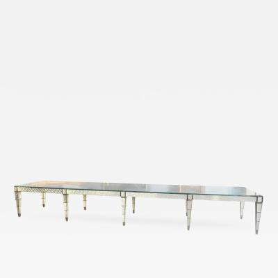 Important Large Italian Dining Table Only One Piece Made Glass Top
