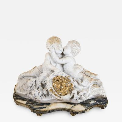 Important Marble and Bronze Cherubs Sculpture