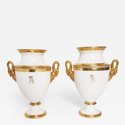 Important Pair of French Restoration Era Vases