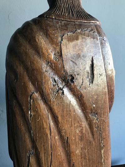 Impressive Antique Carved Santo