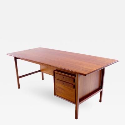 Impressive Danish Modern Teak Executive Desk