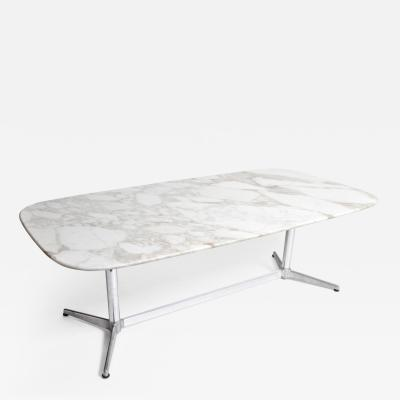 Impressive Mid Century Modern Calacatta Marble Eames Table