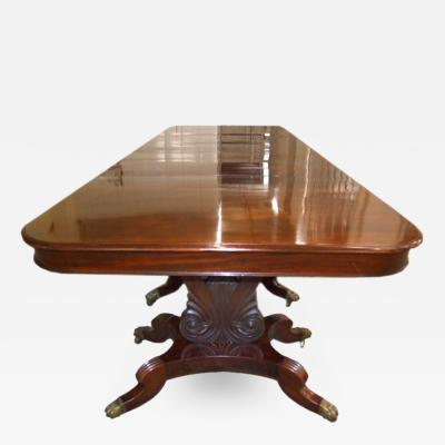 Impressive Neoclassical Four Pedestal Banquet Table