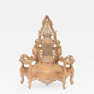 Impressive One of a kind French Throne Chair
