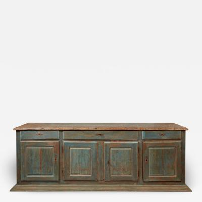 Impressive Painted French Provincial Buffet Enfilade