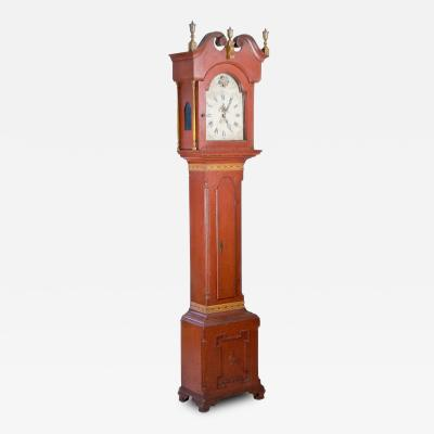 Impressive Painted Tall case Clock