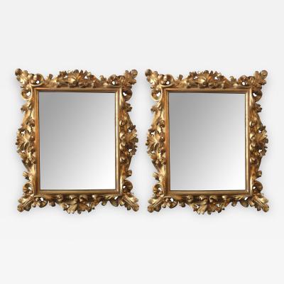 Impressive Pair of Florentine Baroque Giltwood Mirrors