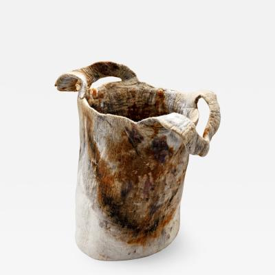 In s Schertel Gracioso 2020 Naturally Dyed Felted Wool Vase by In s Schertel Brazil