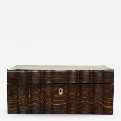 Indian Ebony Scalloped Sided Box