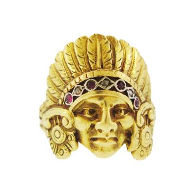Indian Head Gold Ring