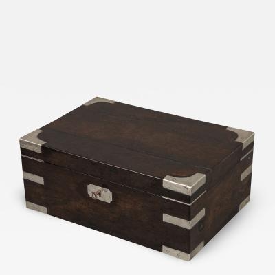 Indian Silver and Ebony Box
