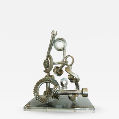 Industrial American Aluminum Sculpture