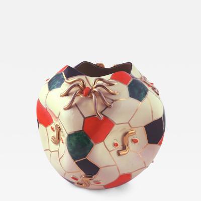 Ing Domenico Pucci 1952 Pucci Ceramic Spider Vase