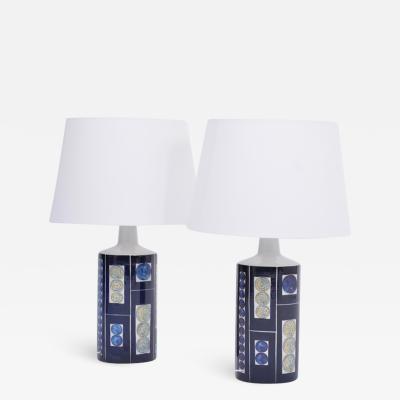 Inge Lise Koefoed Pair of Blue Royal 7 Tenera Table Lamps by Ingelise Kofoed for Fog M rup