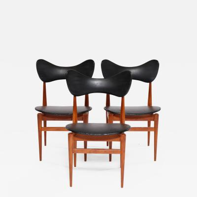 Inge and Luciano Rubino Butterfly Chairs by Inge Luciano Rubino for Sor Stolefabrik 1960s Set of 3