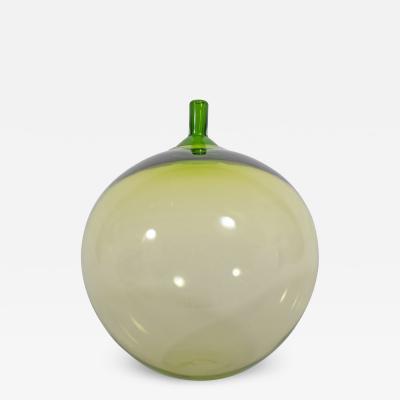 Ingeborg Lundin Apple Art Glass Sculpture Design by Ingeborg Lundin for Orrefors 1957