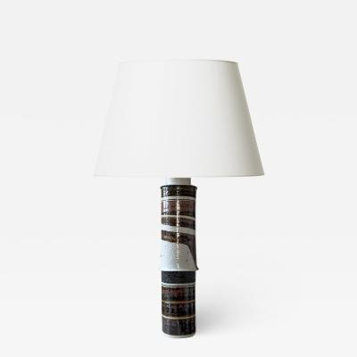 Inger Persson Monumental Brutalist lamp by Inger Persson for Rorstrand