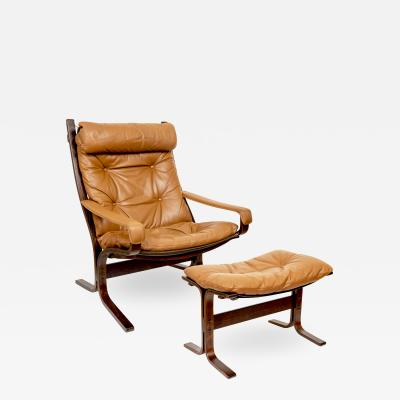 Ingmar Relling Mid Century Siesta Leather Lounge Chair By Ingmar Relling For Westnofa