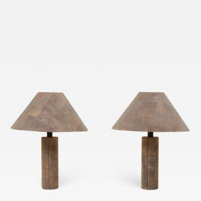 Ingo Maurer Pair of Table Lamps in Cork by Ingo Maurer Germany 1970s