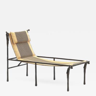 Ingrid Donat Bronze Chaise Meridienne aux Caryatides