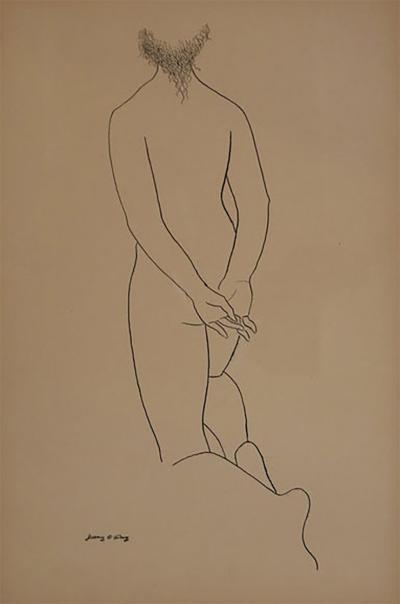 Ink Drawing of a Nude by Jerry ODay 2