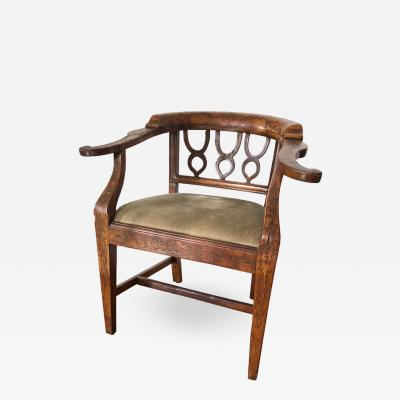 Inlaid Desk Chair French 19th Century