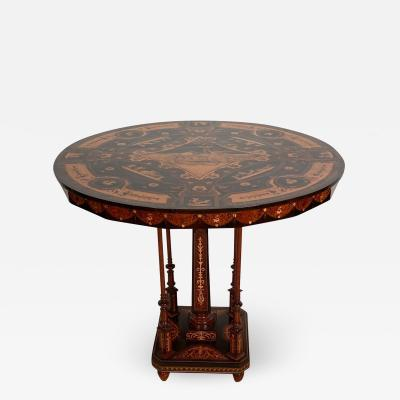 Inlaid Octagonal Table Italy 19th Century