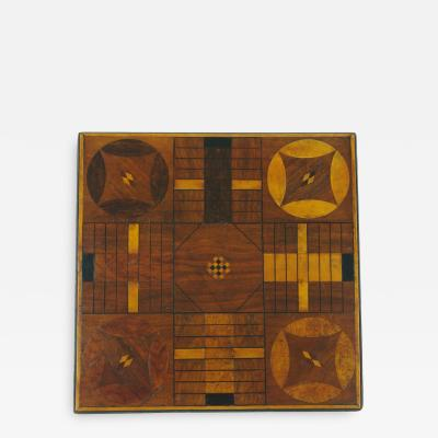 Inlaid Parcheesi Board Mounted as a Side Table 19th c