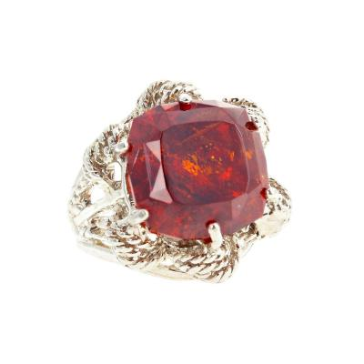 Intensely Glittering VERY RARE 16 4 Carat Natural Sphalerite Ring