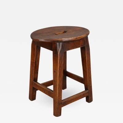 Interesting 18th Century Elm Stool