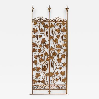 Intricately Ornamented Gilt Wrought iron Screen
