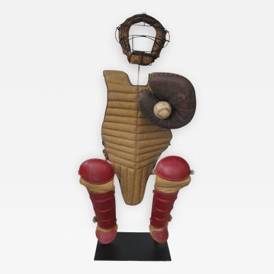 Invisible Baseball Catcher Figure with Mask Mitt and Pads